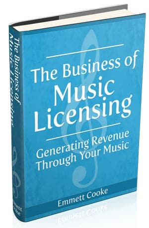 "cover for ""The Business of Music Licensing"" by Emmett Cooke"
