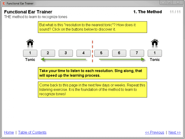 interactive step-by-step functional ear training