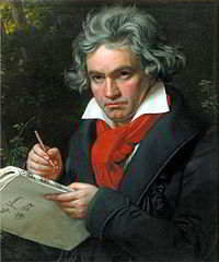 A classic picture of Ludwig van Beethoven