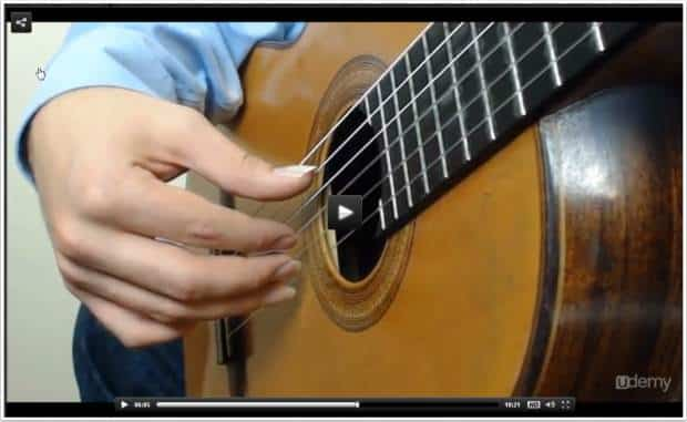 right hand position for Classical guitar playing