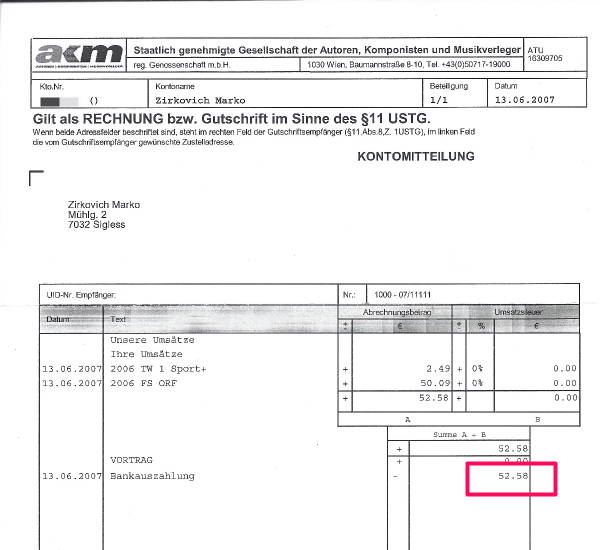 picture of music licensing royalty cheque