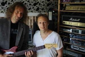 Bernhard Beibl and Martin Weninger in the studio