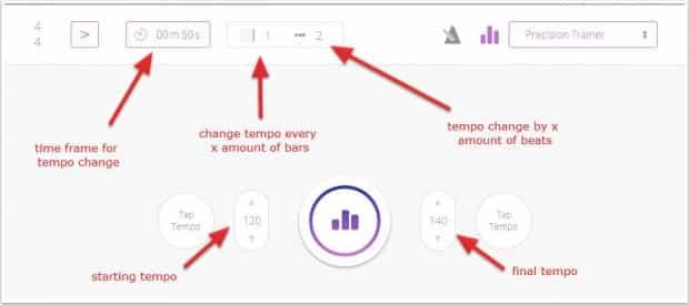 GrooveMaster Pro Precision Trainer settings