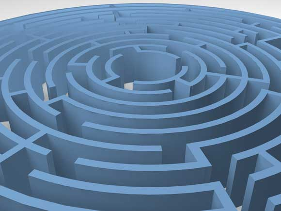 picture of a blue labyrinth