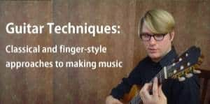 Cover for Guitar Techniques course by Brian Riggs